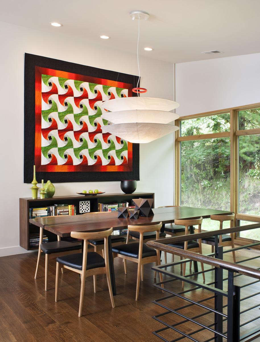 modern dining room, Carlton Edwards Architects, Asheville architect