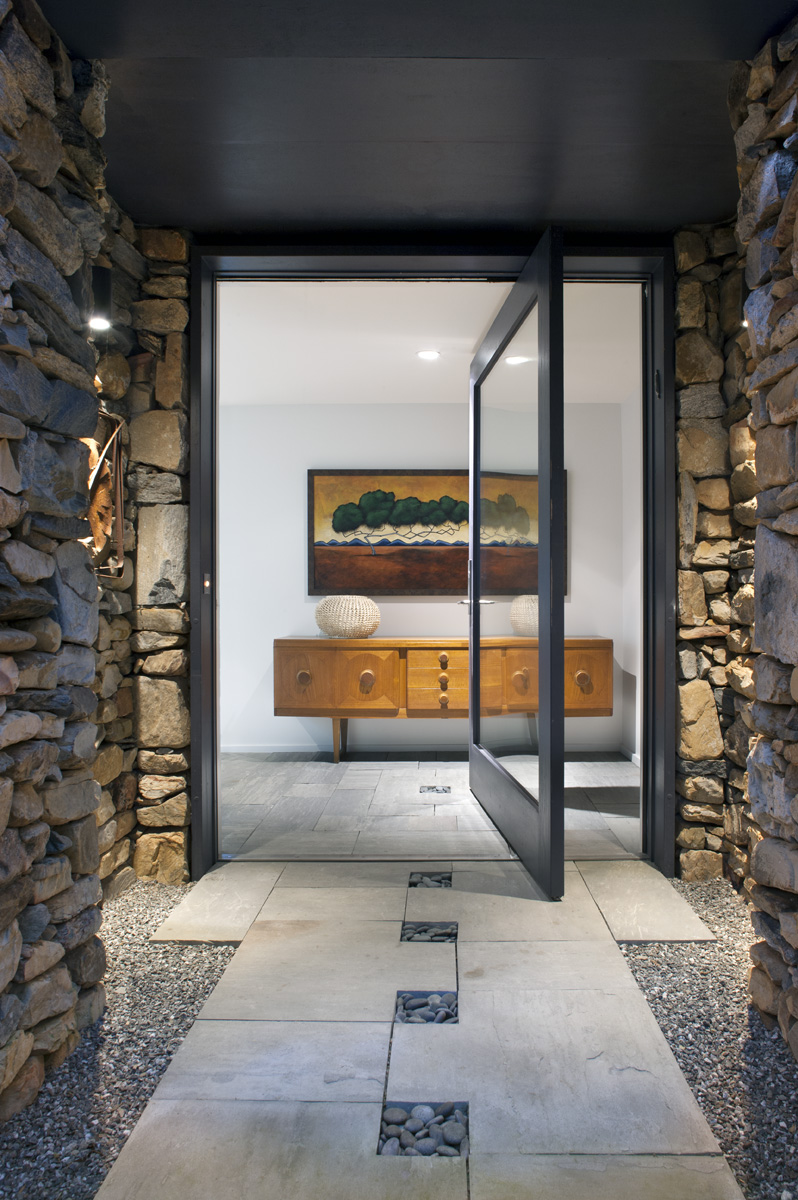 Modern entry, Asheville architect, Carlton Edwards