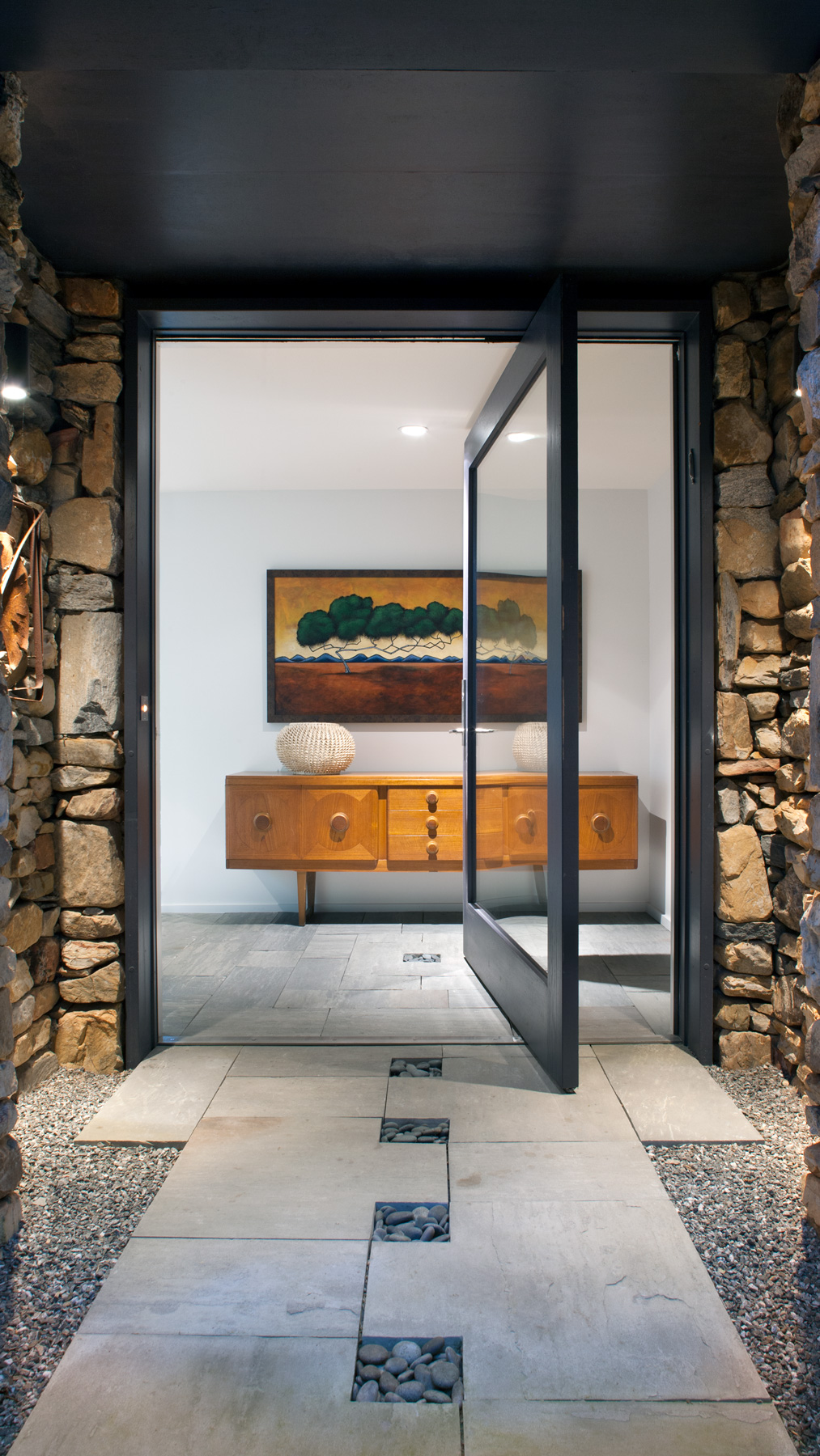 glass entry door on pivot-modern furniture
