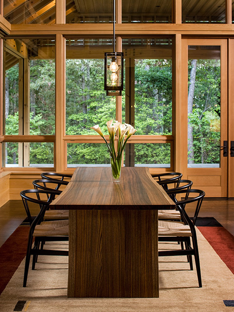 dining room-window floor to ceiling