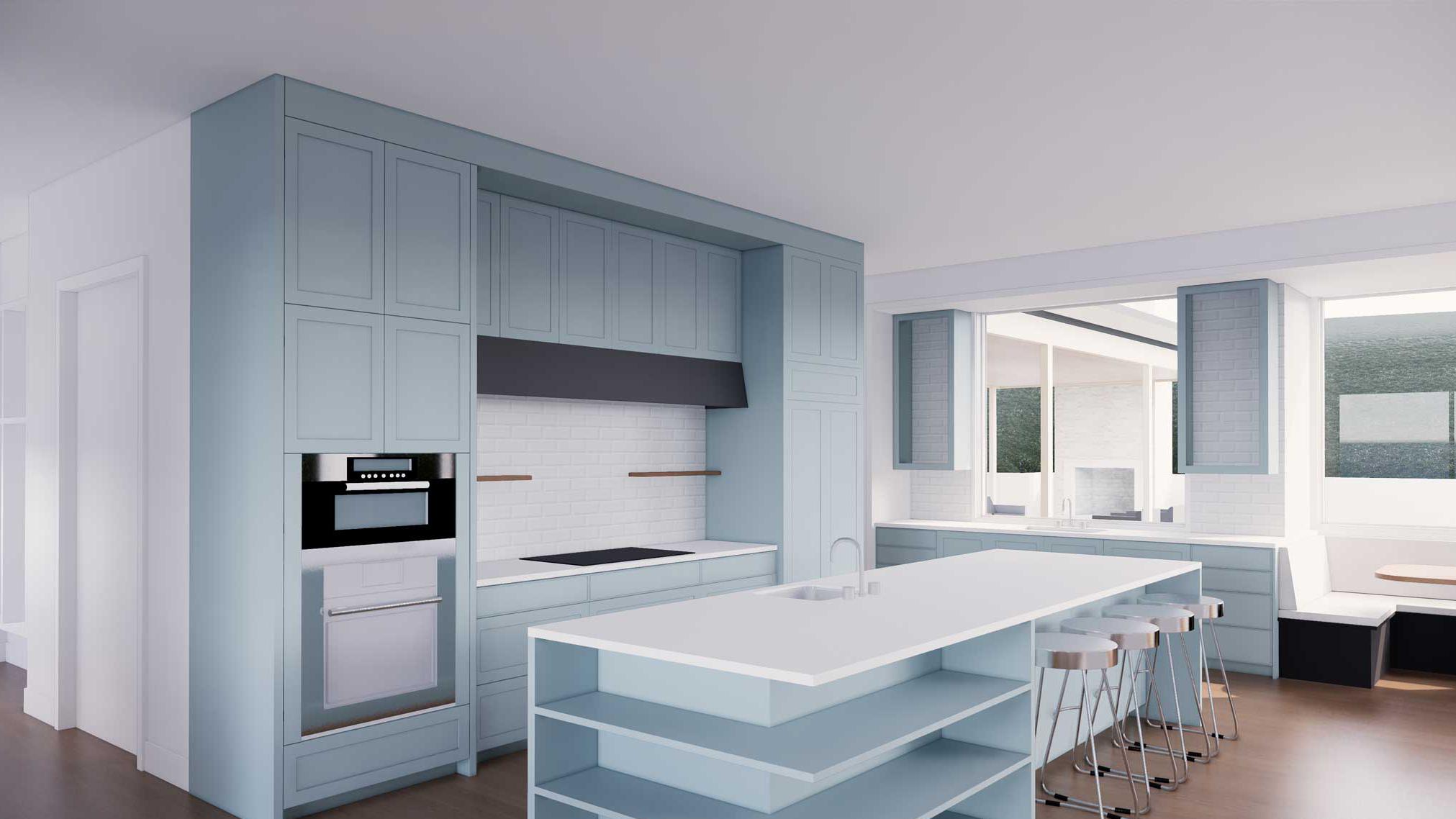Park-Ave-Enscape-3D rendering services of kitchen layout