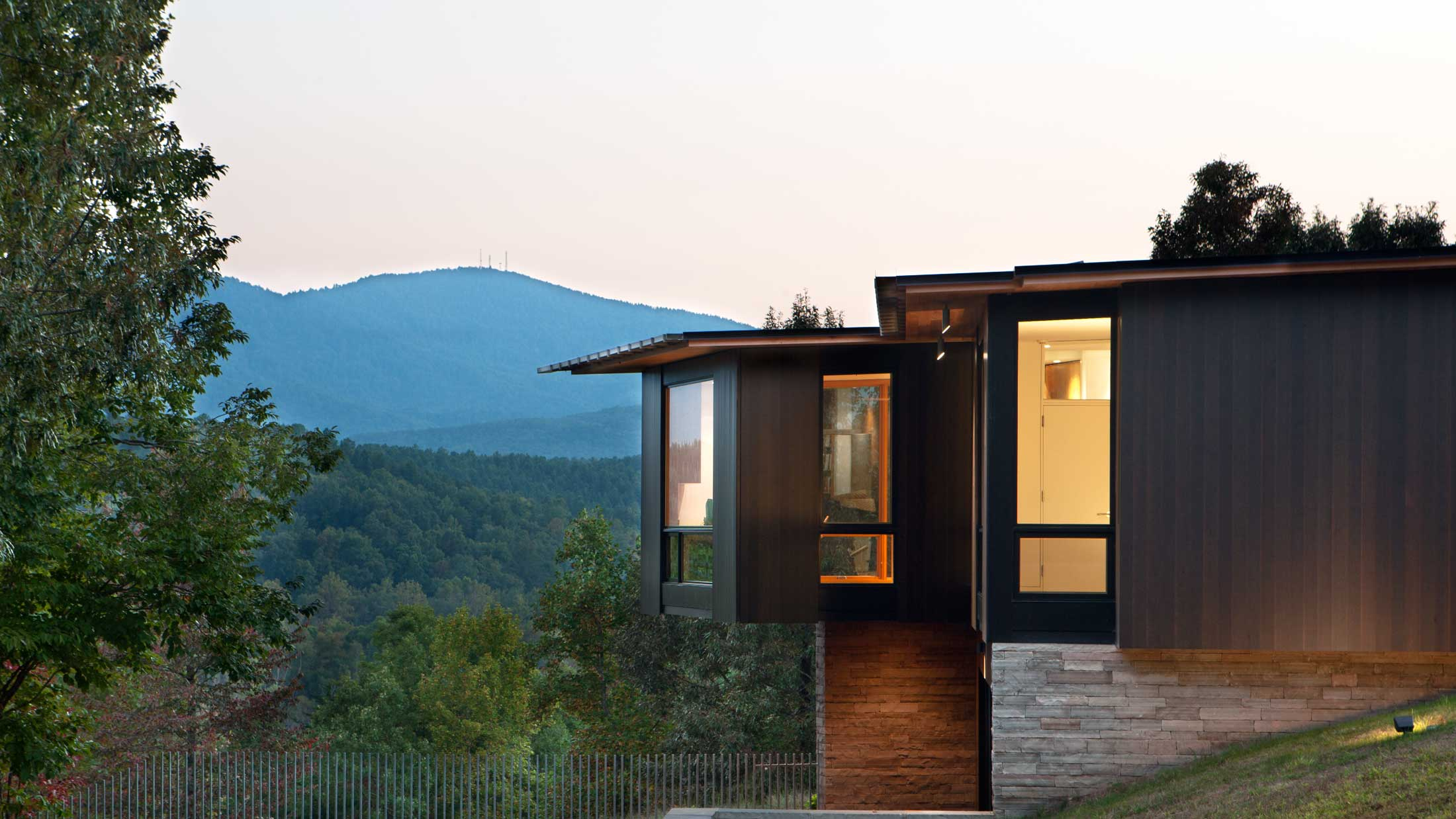 mountain home in Asheville mountains