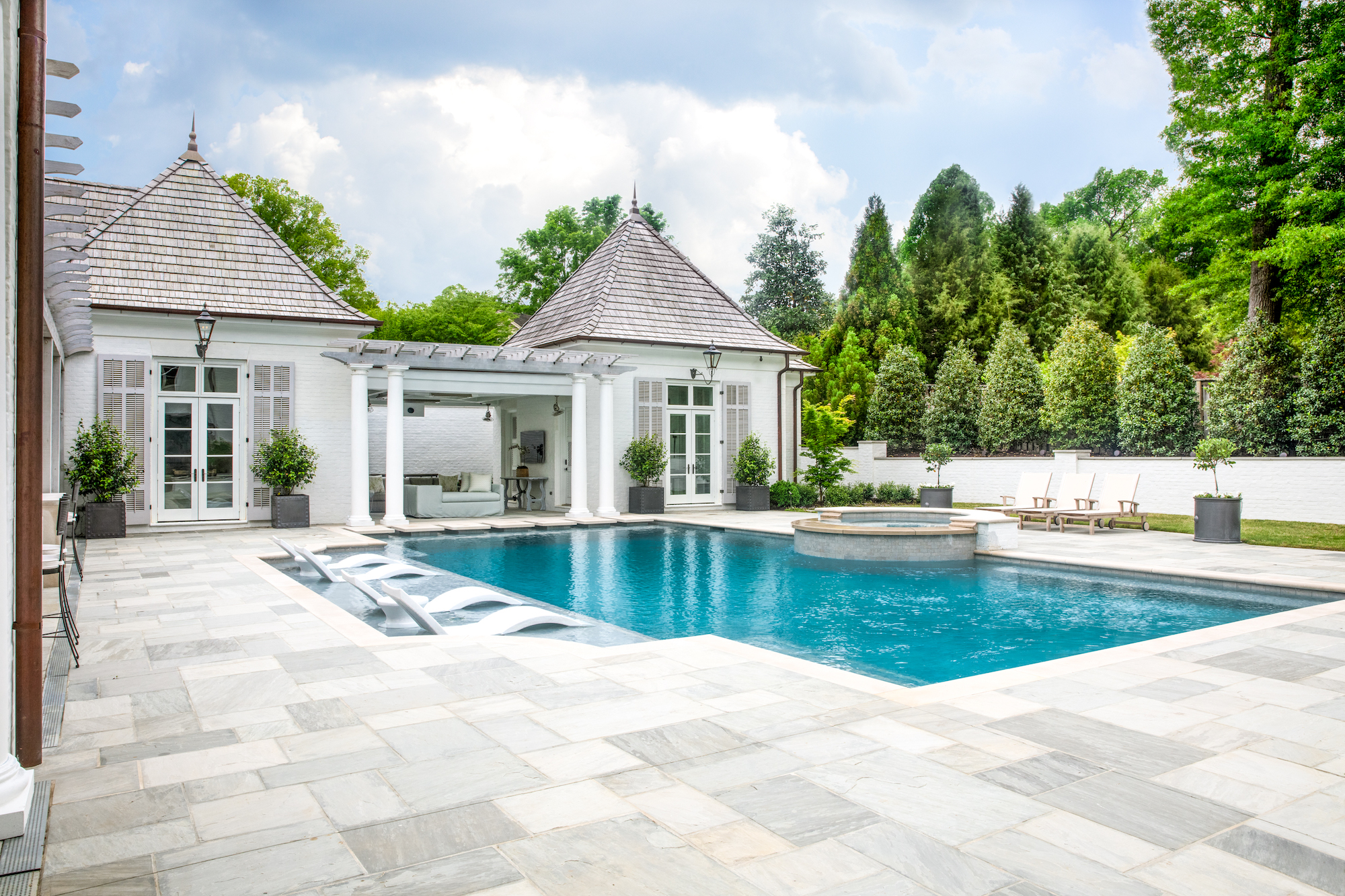 Revere-memphis architecture firm-swimming pool and cabana