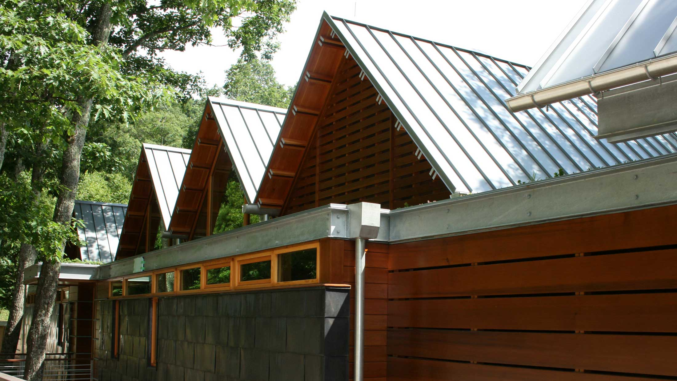 Asheville modern home with metal roofing