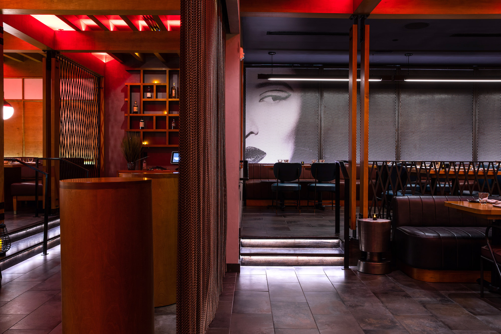 Virago-commercial architects-design space inside restaurant-Japanese influence