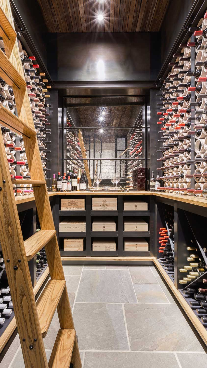 wine storage in multi level residential building-downtown Memphis