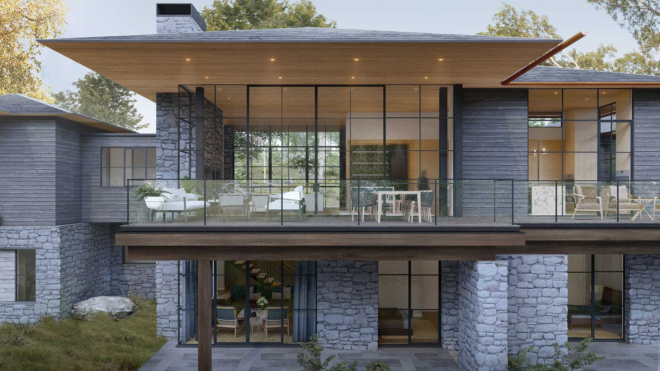 3D architectural renderings-Asheville home